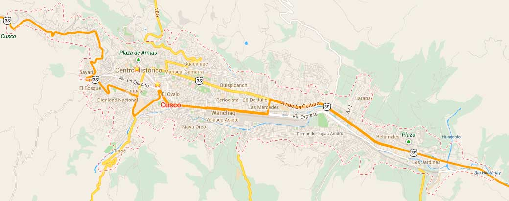 Map of Cusco