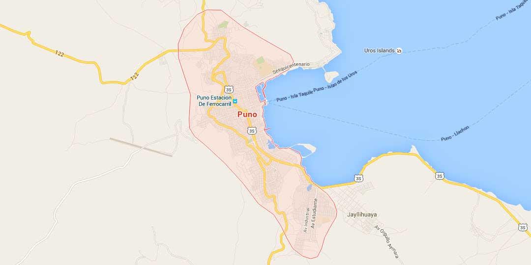 Map of Puno