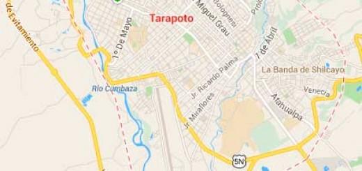 Map of Tarapoto