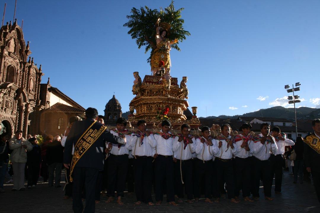 Corpus Christi Cusco -Patron San Sebastian