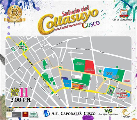 Route of great Corsian Collasuyo Salute to the Imperial city of Cusco