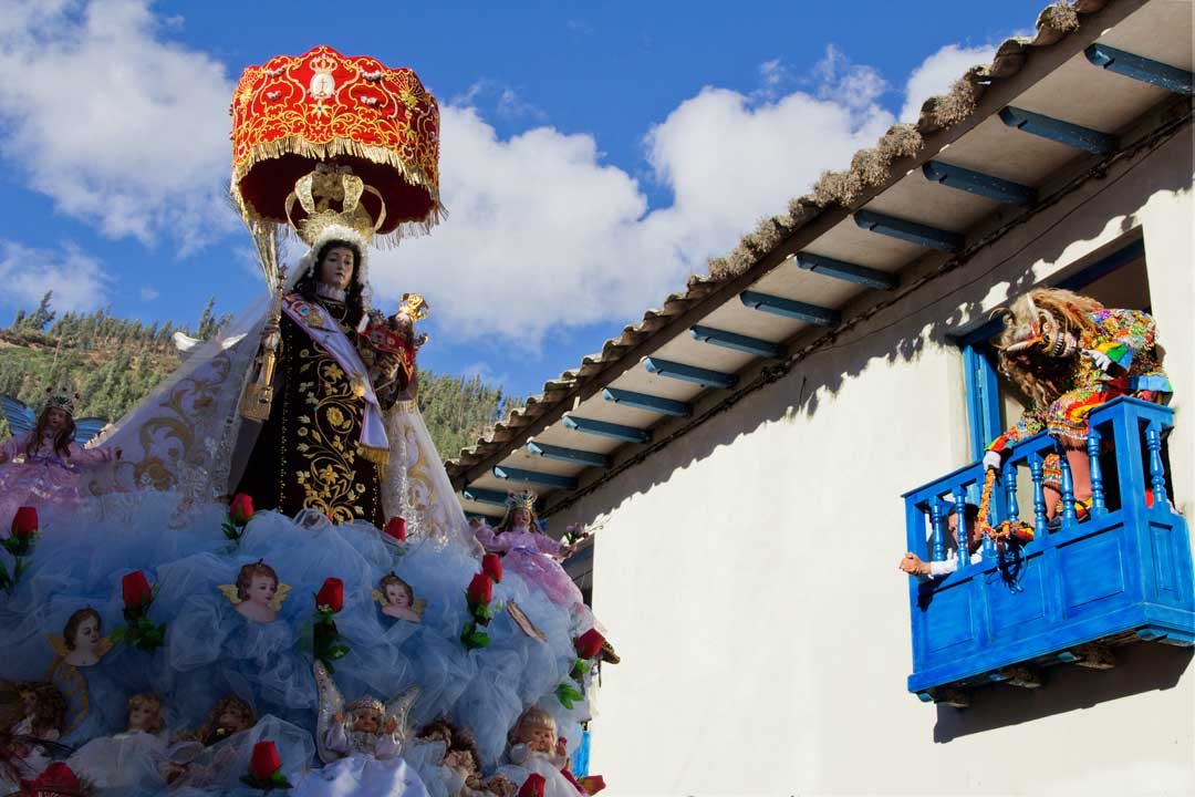 Virgin of Carmen in Paucartambo, Cusco