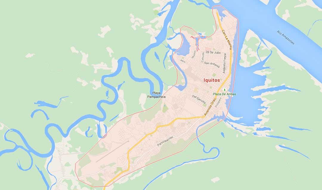 Loreto Peru Map Map of Iquitos Loreto   In Peru Travel